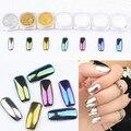 Nuevo Diseño 1g Espejo Clavo Del Brillo Del Polvo Del Polvo de Uñas de Arte Glitters DIY Decoración Shinning Pigmento