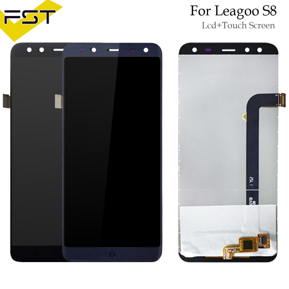 720*1440 Pour Leagoo S8 écran lcd + numériseur à écran tactile Pièces De Rechange pour Leagoo S8 écran lcd écran en verre Capteur Avec Outils