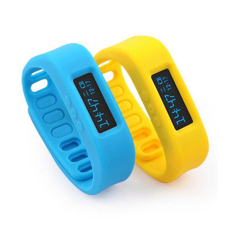 imágenes para Saludable Pulsera Inteligente Sport Fitness Banda de Pulsera Reloj Bluetooth Sync la Quema de calorías para iPhone 5 plus 6 7 Xiaomi Meizu Samsung