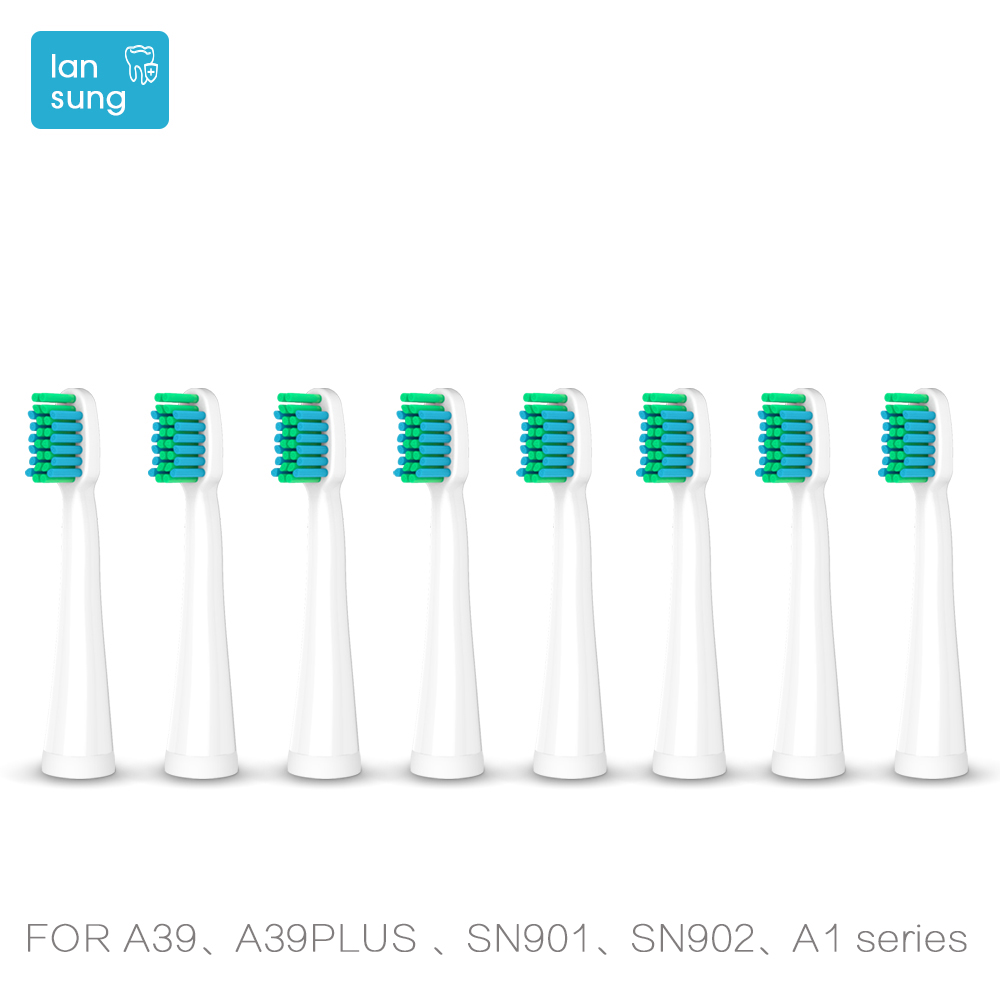 Toothbrush heads Replacement Heads For Lansung U1 A39plus A1 Sn901 Sn902 Tooth Brush Oral Hygiene electric toothbrush heads 5 2pcs philips sonicare replacement e series electric toothbrush head with cap