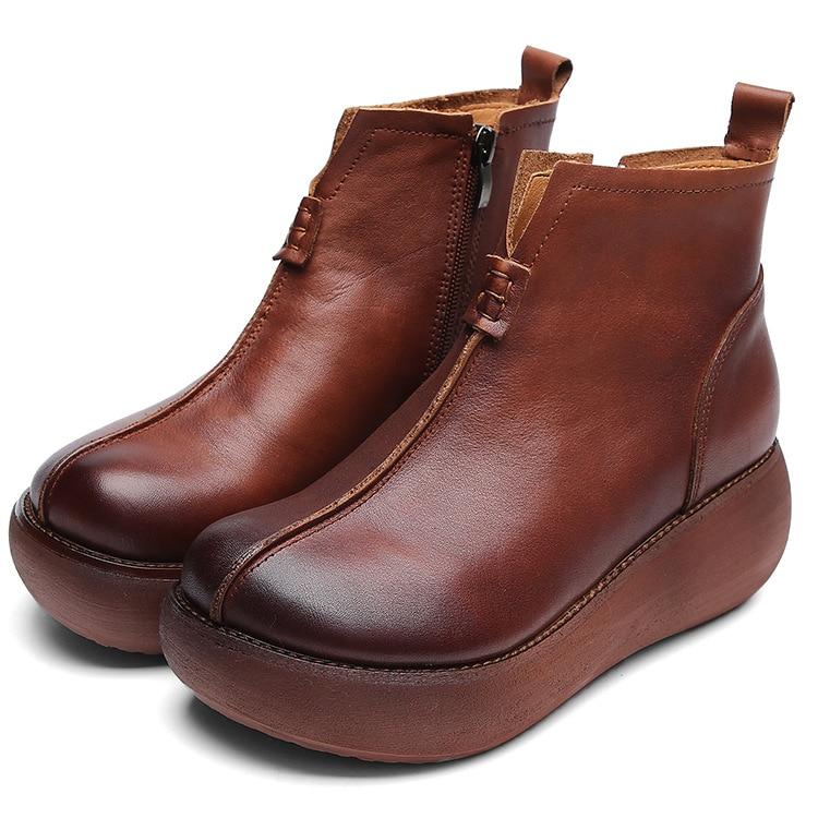Las brown Retro Zurriago Mujeres Suela Nuevo Otoño 2018 Cuero De Capa Negro Del Primera Zapatos Casual Aumentado Gruesa Moda Salvaje HAPw5qZxnx