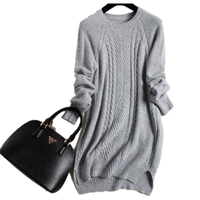 New brand of high quality cashmere ladies sweater winter autumn women oversized long sweater