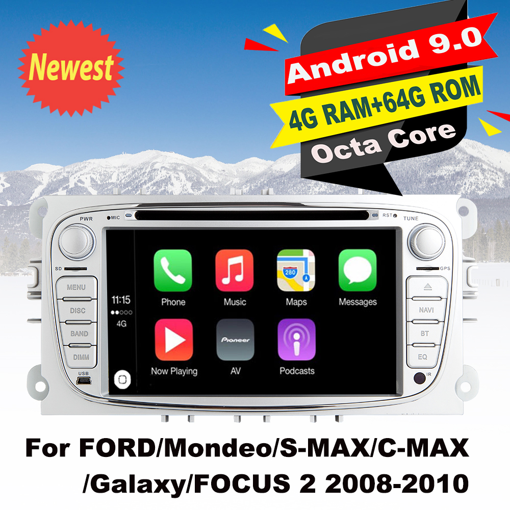 Support Apple Carplay Android9.0 Car radio Stereo DVD GPS Multimedia Player For FORD/Mondeo/S MAX/C MAX/Galaxy/FOCUS 2 2008 2010-in Car Multimedia Player from Automobiles & Motorcycles    1