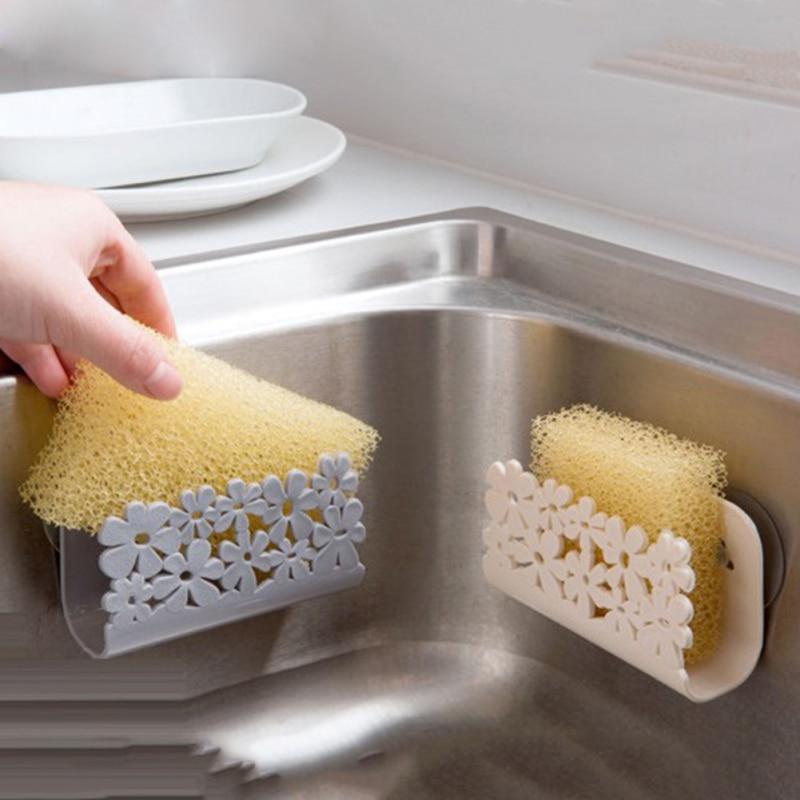 Стеллаж для кухонной раковины, подвесной держатель для слива губки на присоске, многофункциональный стеллаж для хранения смесителя, кухонн...
