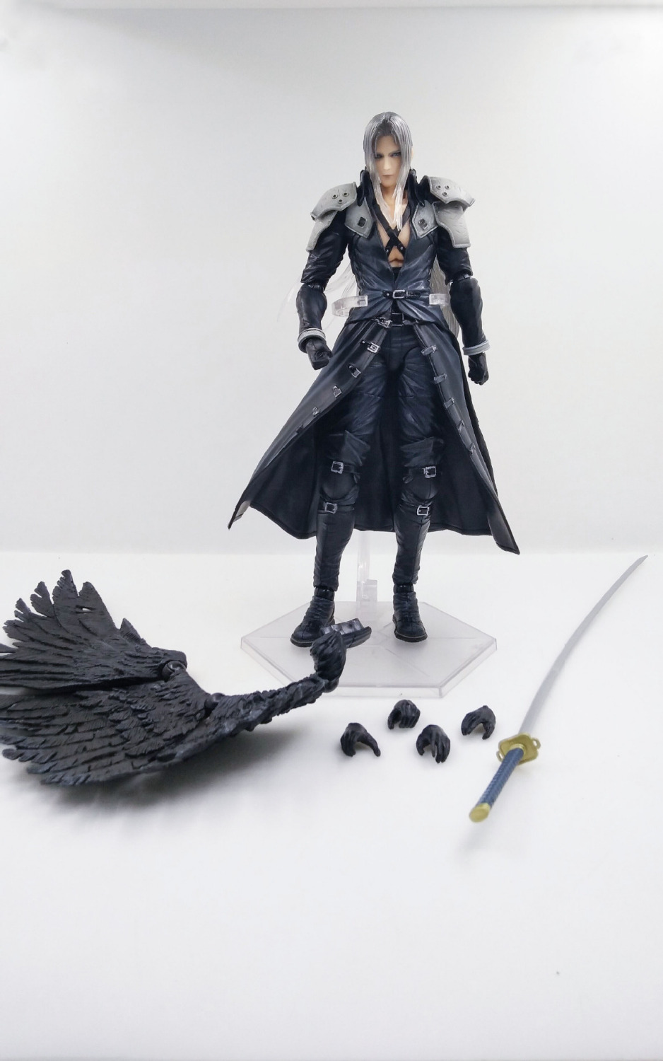 HKXZM Game Figure 25CM <font><b>Final</b></font> <font><b>Fantasy</b></font> VII <font><b>7</b></font> Sephiroth PVC Action Figure Model Toys Doll Collectible Gift image
