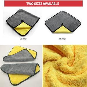 Image 2 - Ręcznik z mikrofibry pielęgnacja samochodu polerowanie ręczniki do prania Auto mycie suszenie tkaniny mikrofibra gruby pluszowy ręcznik akcesoria do myjni samochodowych