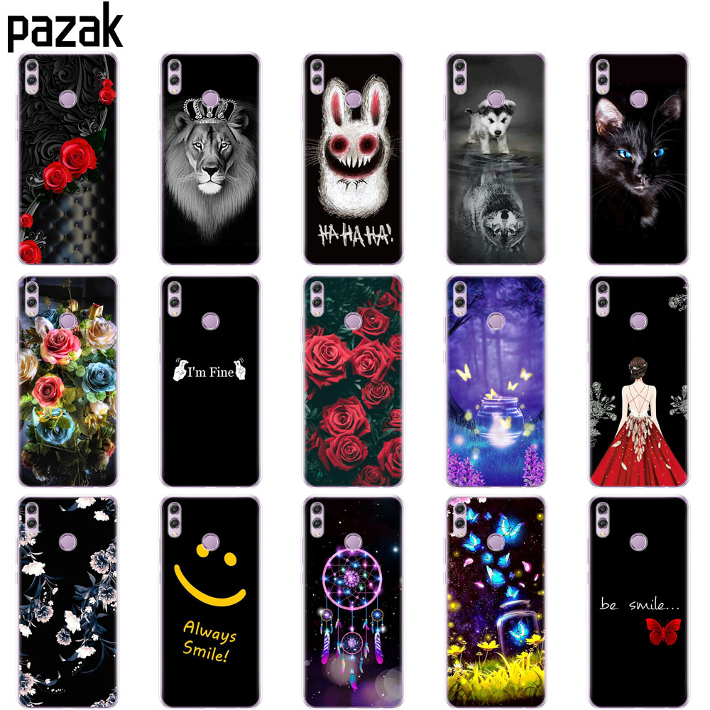 Case For Huawei Honor 8x Case 6.5 Inch Silicon Soft TPU Black Cover For Honor 8 X Funda Print Painted Phone Shells Bags