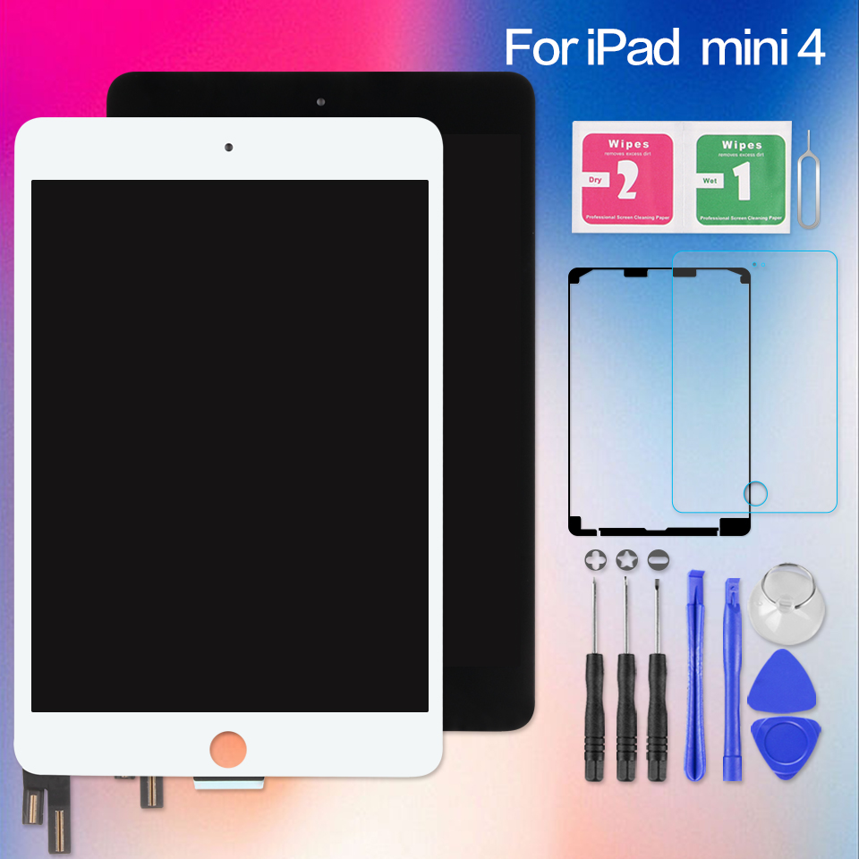 AAA + Экран для iPad Mini 4 Mini4 A1538 A1550 сенсорный дигитайзер Сенсор ЖК-дисплей Дисплей матрица замена без Главная Кнопка 7,9 дюймов