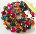 Free shipping!    2014 Fashion Style diy AAA Natural 10mm Multicolored Tourmaline Jewellery Necklace 18''   2 pieces/lot  JT5493