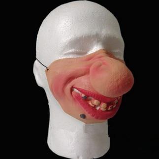 Нев Биг Носе Фунни Халф Фаце маска латекс маска Пранк маска маскаре цосплаи Рецепти Спооф Фунни Јоке Трицкстер