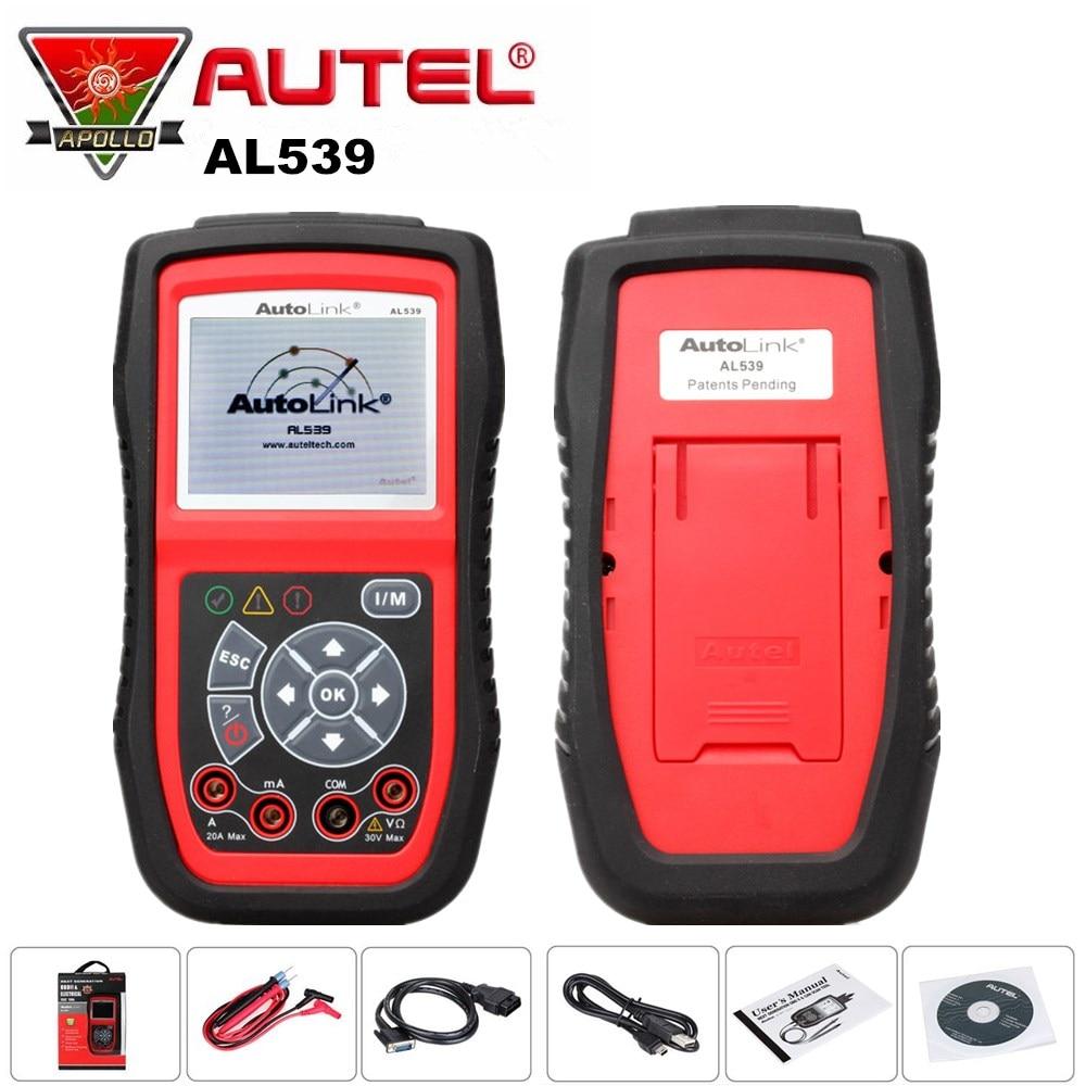AUTEL AutoLink AL539 Auto OBD2 Code Reader Professional Car Diagnostic Tool Scanner Car ECU Tester Multi Language for OBDII Cars цены