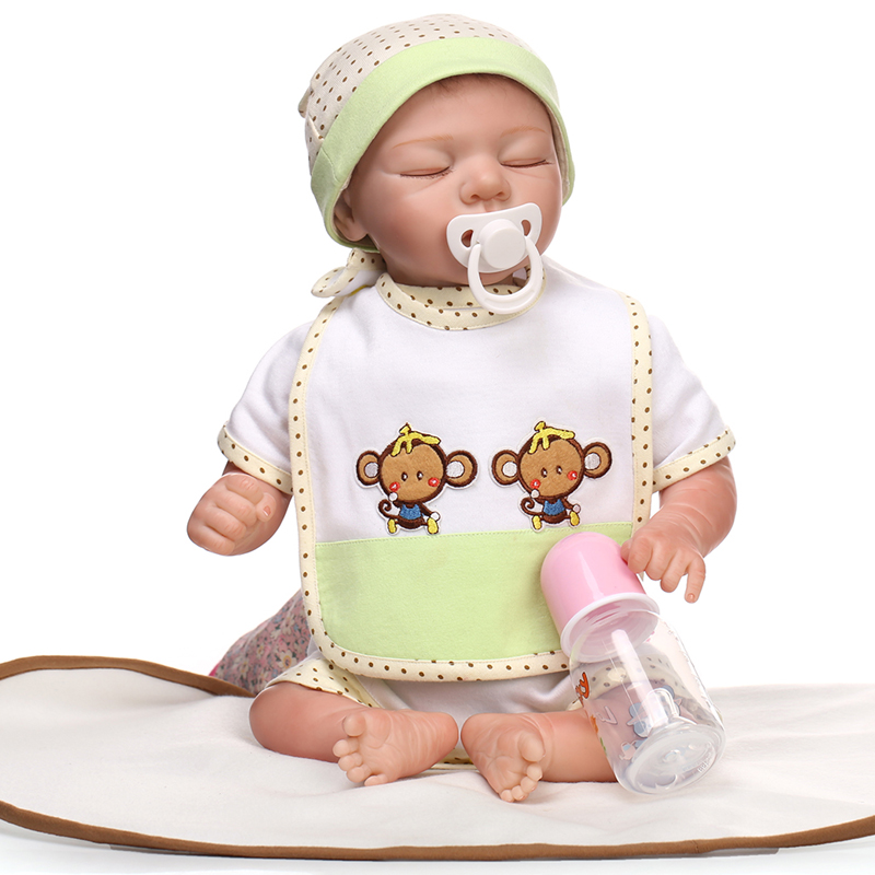22 inches Doll Reborn For Sale Soft Toys gift Silicone Reborn Babies Girls Play House Toys Lifelike Doll Newborn Babies bonecas22 inches Doll Reborn For Sale Soft Toys gift Silicone Reborn Babies Girls Play House Toys Lifelike Doll Newborn Babies bonecas
