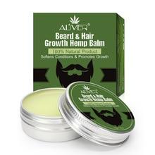 Мужской органический бальзам с конопляным маслом для бороды, КБР, масло для усов, воск для укладки, пчелиный воск, увлажняющий сглаживающий бальзам для ухода за бородой, натуральный Конопляный бальзам