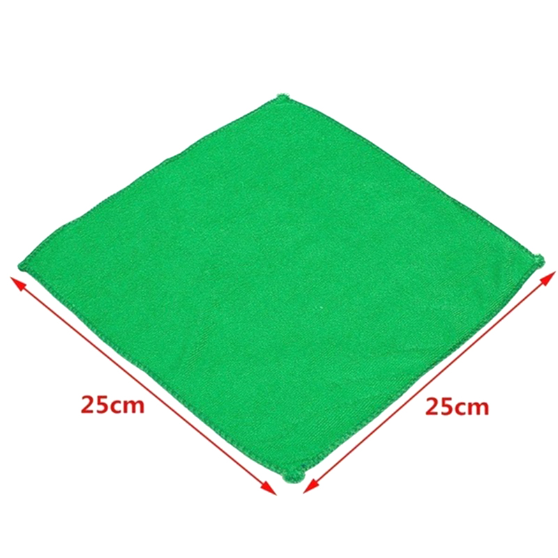 1Piece Microfibre Cleaning Car Soft Cloth Washing Cloth Towel Duster Green Color Soft Absorbent Wash Cloth Car Auto Care 25*25cm