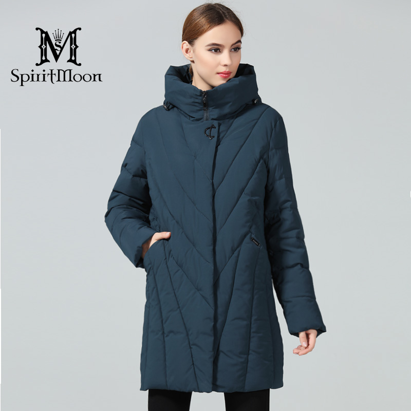 SpiritMoon 2018 Women Thickening Bio Down Jackets Brand Fashion Woman Winter Coats And   Parka   Hooded New Coats Plus Size 8XL 10XL