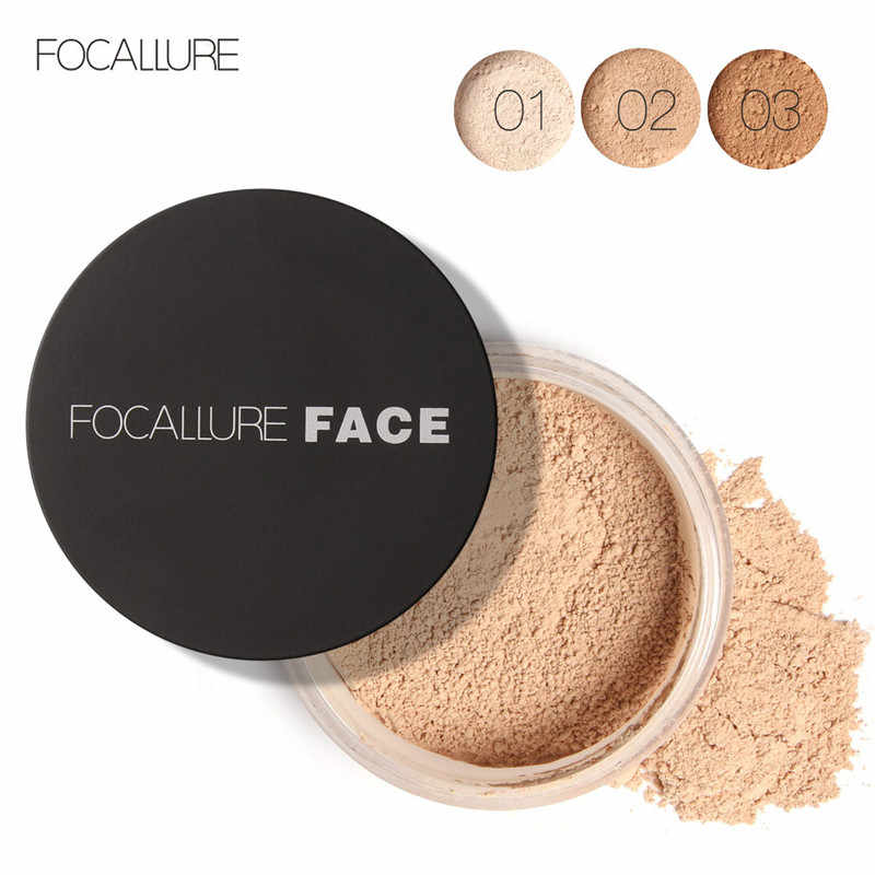 Focallure Wajah Minyak-Kontrol Longgar Matte Halus Mineral Finish Foundation Make Up Foundation Pengaturan Bubuk
