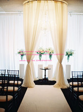 NEW 2m*3meter adjustable circular stainless steel pipe frame for drape/wedding ceremony pivalion/wedding backdrop stand