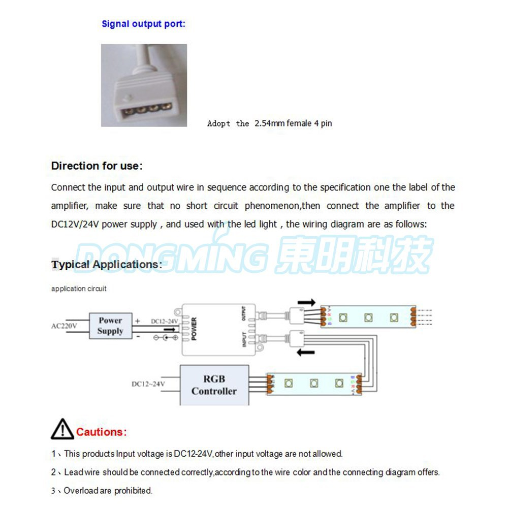 4 Pin Led Wiring Diagram Free Picture Best Library Rgb Amplifier Pvc Material Case Signal 3a Current Dc 12v 24v
