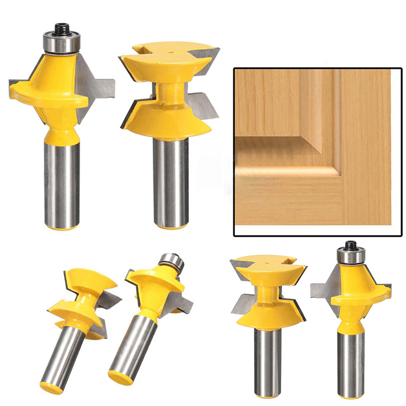 2pcs/set 1/2 Shank Router Bits Set 120 Degree Router Bits For Woodworking Cutter Engraving Tool 2pcs 1 2 shank router bit set 120 degree