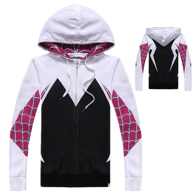 Spider-Man Cosplay Clothes Unisex Cotton Hooded Long-sleeved Shirt Casual Wear