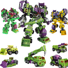 3 stílus IN-STOCK 6in1 NBK 1-6 Hook Transformation Robot Ko verzió Gt Lehúzó Devastator Action Figure ToysOutdoor Beach