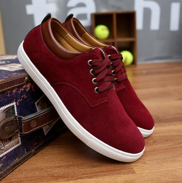 Men Casual Shoes Genuine Leather Sneakers Lace Up Flats Suede Sneakers KD73-89 Men Leather Shoes Summer Plus Size 36-45