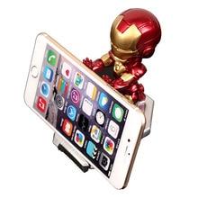 Super Hero Avenger Iron Man Mobile Phone Holder Desk Stand For iPhone Xiaomi Samsung huawei Cartoon smart