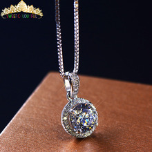 Ювелирные изделия 18 K золото moissanite алмаз ожерелье свадебные подарки HI003