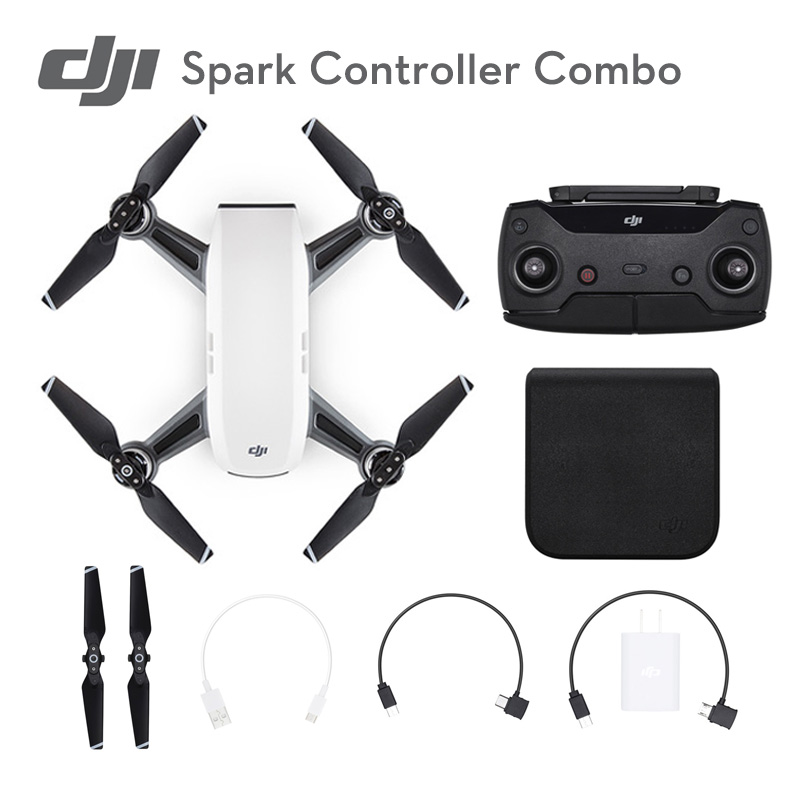 Spark /Spark Controller Combo Alpine White Mini Pocket Selfie With HD Camera DJI