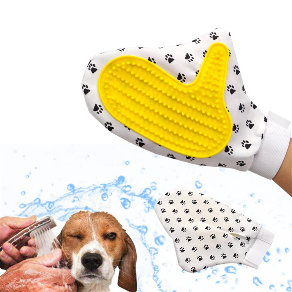 Soft Mitt Pet Grooming Glove Brush for Long & Short Hair Pets to Eliminate Shedding Useful for Combing and Cleaning of Pets 17