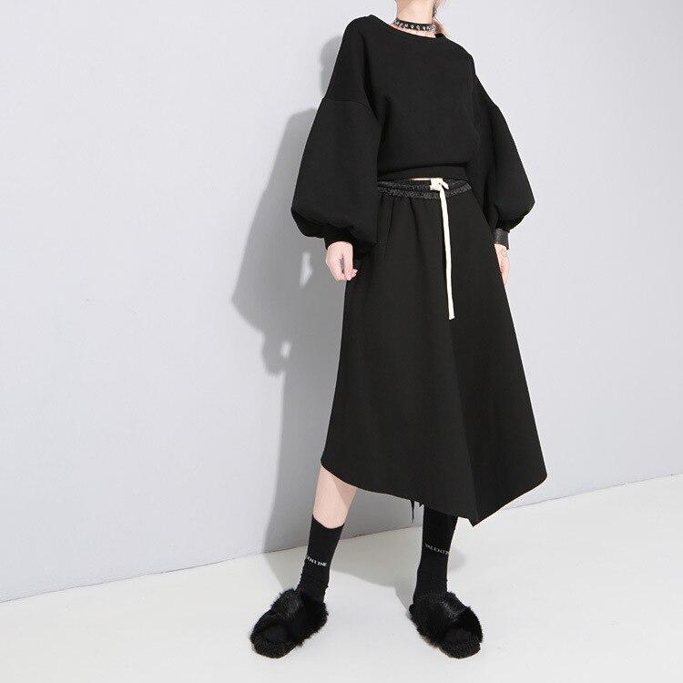 Saia Longa/распродажа; Женская юбка пачка; Бесплатная доставка; Новинка 2019 года; Весенняя длинная юбка; большая винтажная нестандартная строчка;