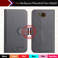 Factory Direct! Mediacom PhonePad Duo X555U Case 6 Colors Ultra-thin Leather Exclusive 100% Special Phone Cover Cases+Tracking factory direct dexp ixion m245 snap case 6 colors luxury ultra thin leather exclusive 100% special phone cover cases tracking