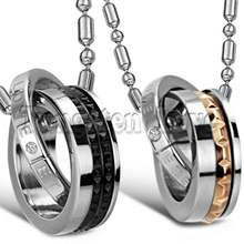 Новый черный розовое золото Вечная любовь Блокировка двойной