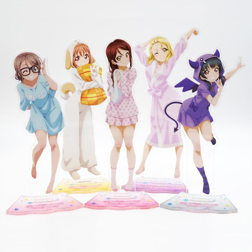 Action & Toy Figures Anime Love Live Exq Sunshine Tsushima Yoshiko & Mari Ohara & Takami Chika Girls Pvc Figure Collectible Model Toys Fashionable Patterns