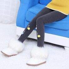 Winter Girls Leggings Cotton Warm Pants For Girls Clothing Children Thick Velvet Leggings Pants Kids Winter Casual Trousers
