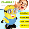 Minion Toy 20cm Electric Robot, Cartoon Despicable Me 3 Toys For Children ,Minions Flashing / Music Dancing, Anime Brinquedos