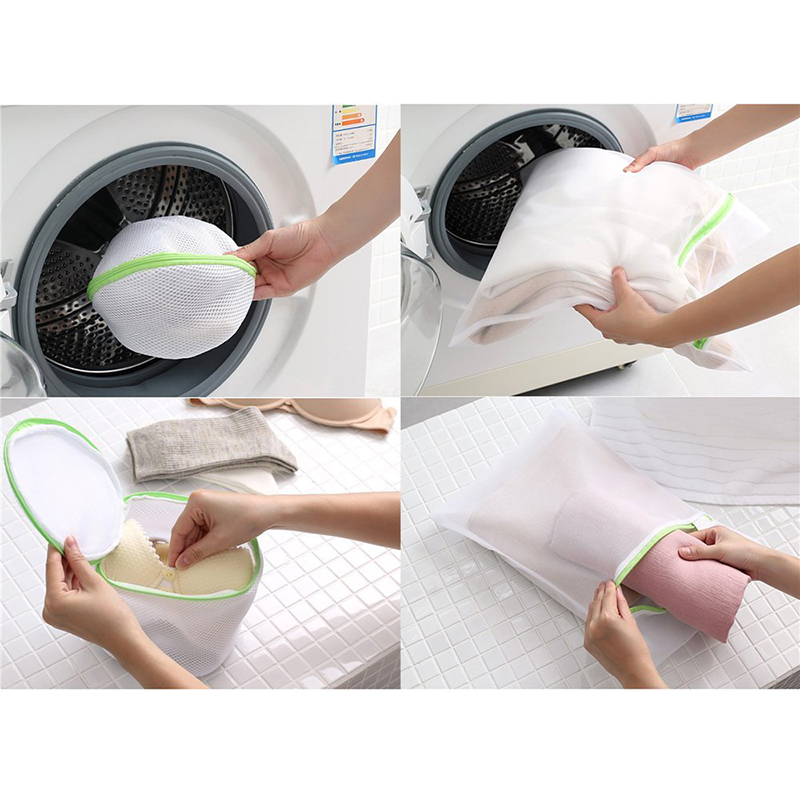 Enipate 6pcs/sets Laundry Bag Drawstring Bra Underwear Products High Quality Useful Mesh Net Bra Wash Bag Zipper Bra Bag