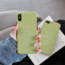 Cartoon Couples Phone Case For iphone X XS MAX XR 5 6S 7 8 Plus Ultra thin Hard PC Back Cover Funny Letter Cases