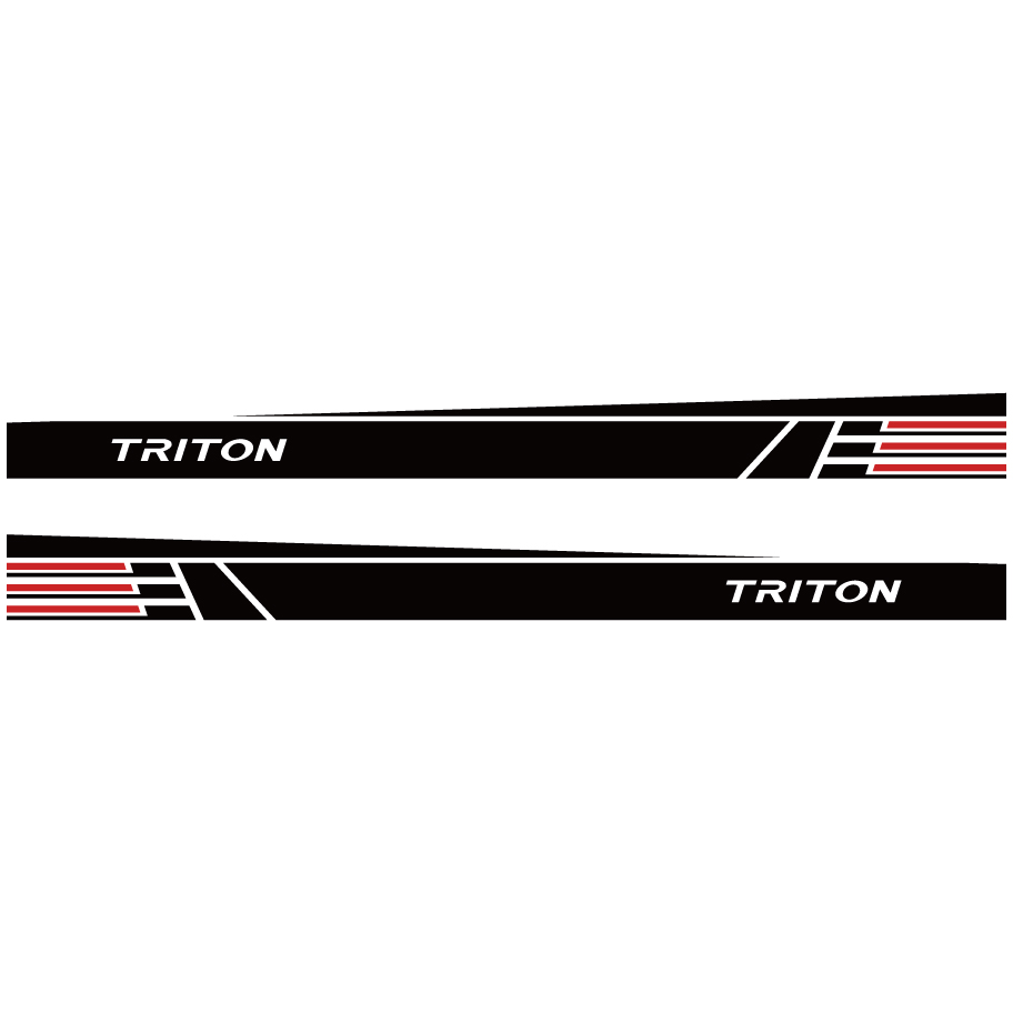 car stickers 2 PC body side waist car styling graphic vinyl car sticker for mitsubishi l200 triton pickup accessories in Car Stickers from Automobiles Motorcycles