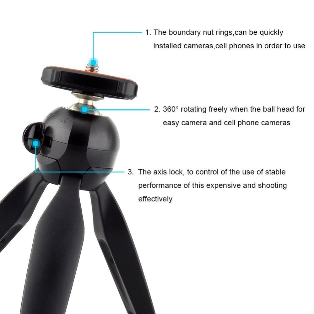 Waterlowrie Mobile Phone Mini Tripod Flexible Universal Camera Stand Jumbo Holder For Iphone X Samsung S9 Huawei Xiaomi Gopro Sjcam In Live Tripods From