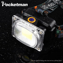 Powerful COB LED Headlamp rechargable headlight camping Fishing waterproof Work lamp Searchlight lantern for 18650 battery(China)