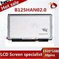 High quality 12.5inch laptop IPS screen B125HAN02.0 B125HAN02 test well before sending