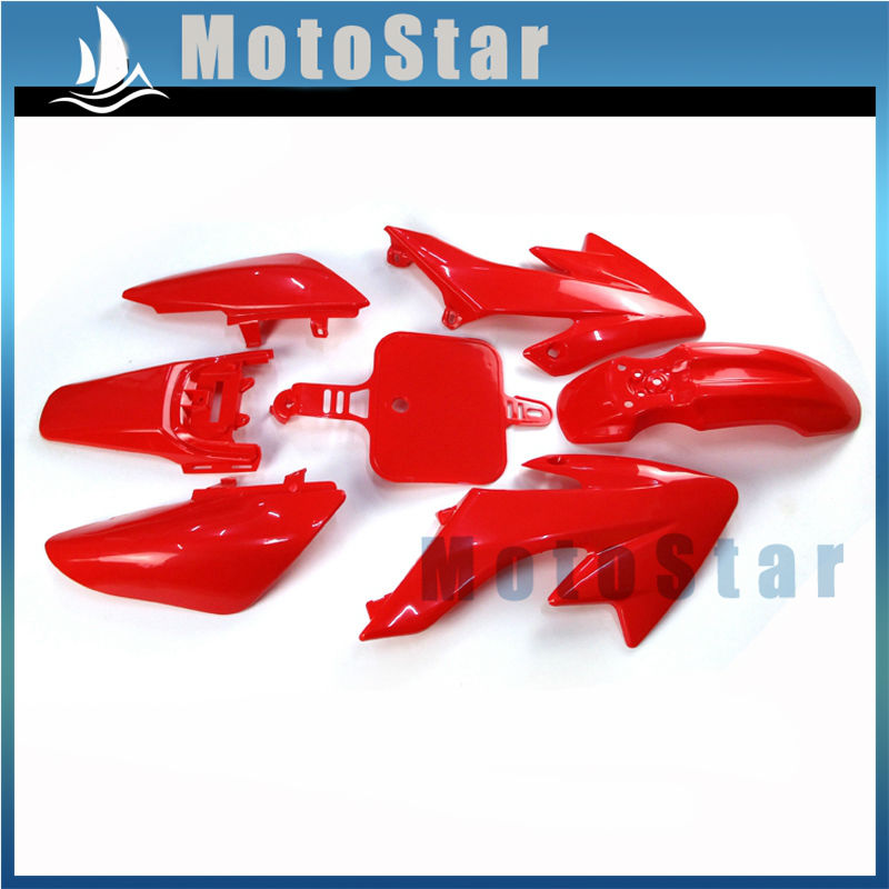 Red Plastic Fairing Kits Gear Shifter Lever For Honda CRF50 XR50 50cc-160cc