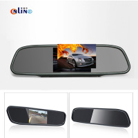 Car Electronics TFT 480 270 4 3 Inch LCD Car Parking Mirror Monitor Video Input For