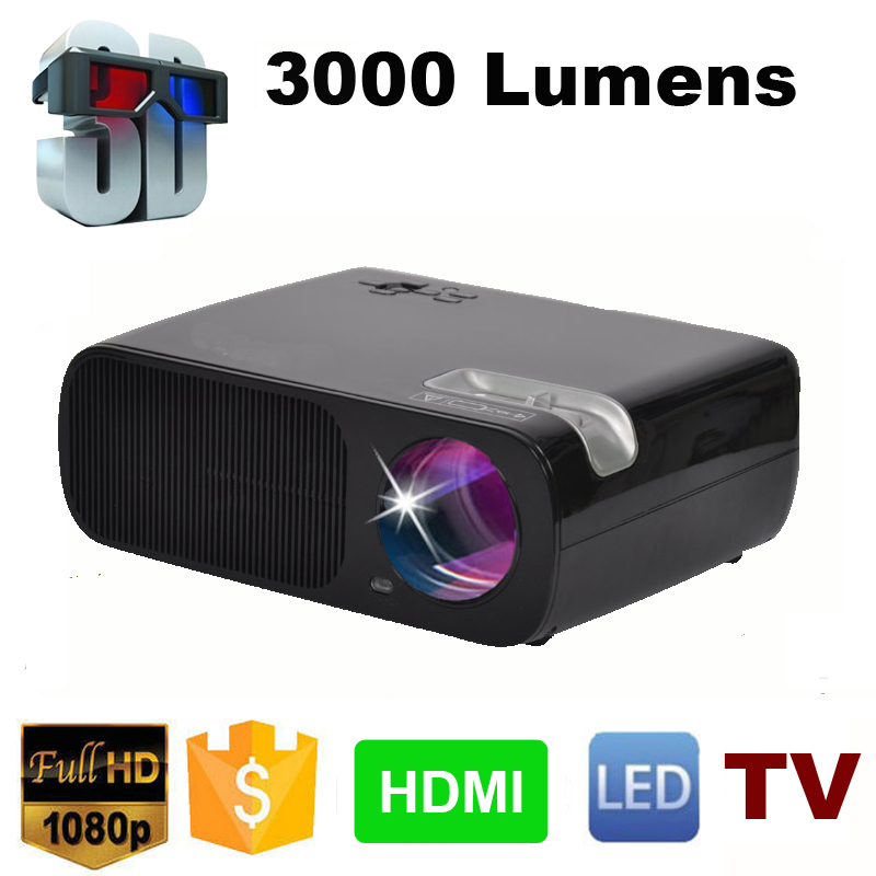 7500lm Hd Home Theater Multimedia Lcd Led Projector 1080: 3000Lumens HD Multimedia Portable Handheld LCD LED HDMI