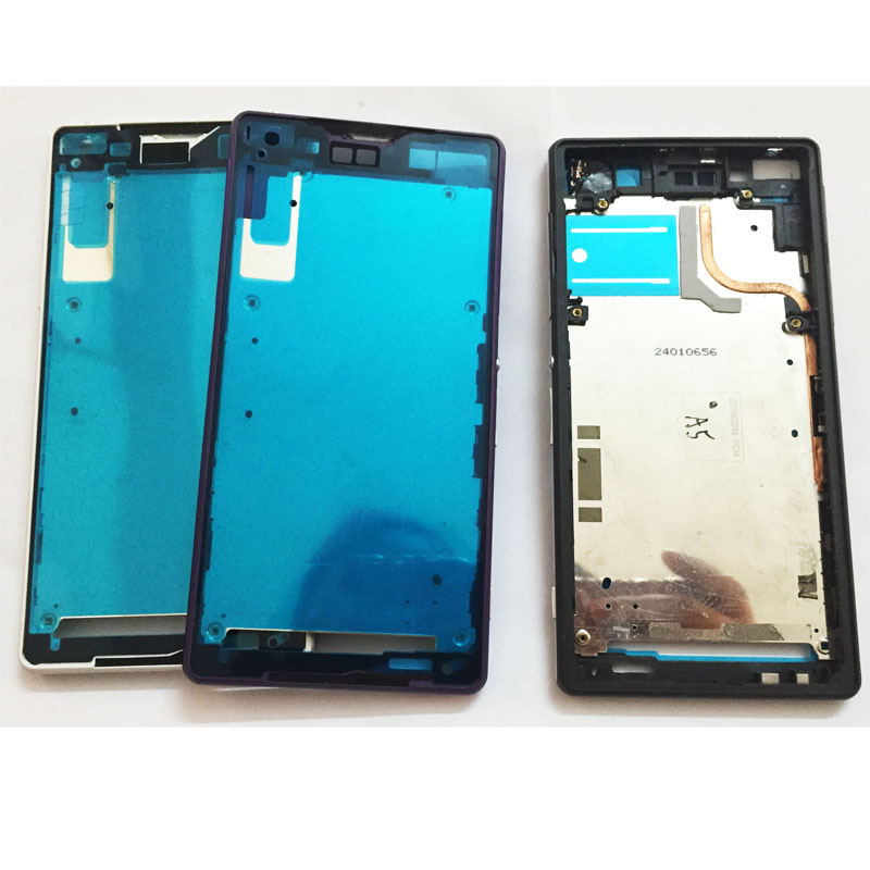 New Original For Sony Xperia Z2 L50W D6503 Metal Middle Frame With Dust Plug And Adhesive Repair Parts