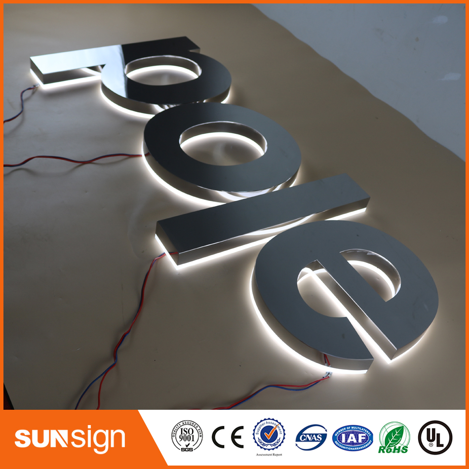 Custom Made 3d Letters Mirror Stainless Steel Letters And Signs