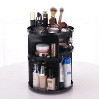 360 degree Rotating Makeup Organizer Box Brush Holder Jewelry Organizer Case Jewelry Makeup Cosmetic Storage Display Stand Box