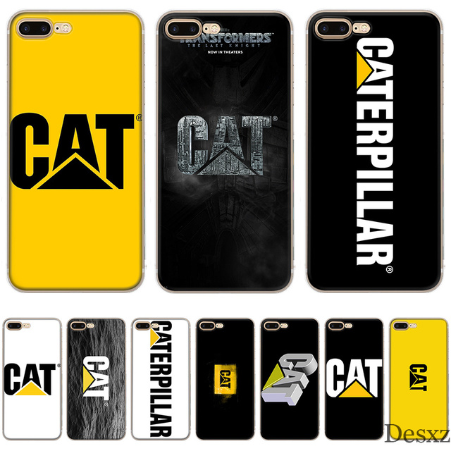 competitive price 1a371 1c4ff US $1.55 35% OFF|Phone Case Caterpillar Logo Cute For Apple iPhone 8 7 6 6S  Plus X XS XR MAX 5 5S SE Cover-in Fitted Cases from Cellphones & ...