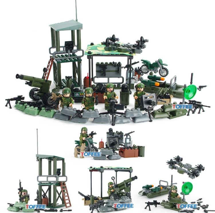 kompatibilis Legoinglys katonai hadsereg figurái Jungle parancsnok fegyverekkel WW2 Építőelem játékok gyerekeknek ajándék